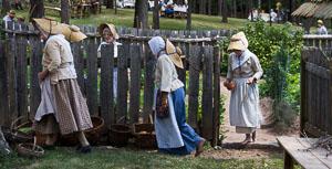 The Pennsylvania German Garden at the Henry Antes House, Perkiomenville PA, Goschenhoppen Folk Festival